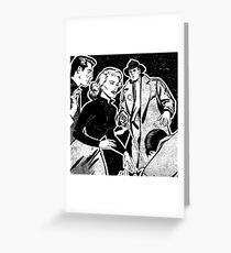 CRIME AND PUNISHMENT Greeting Card