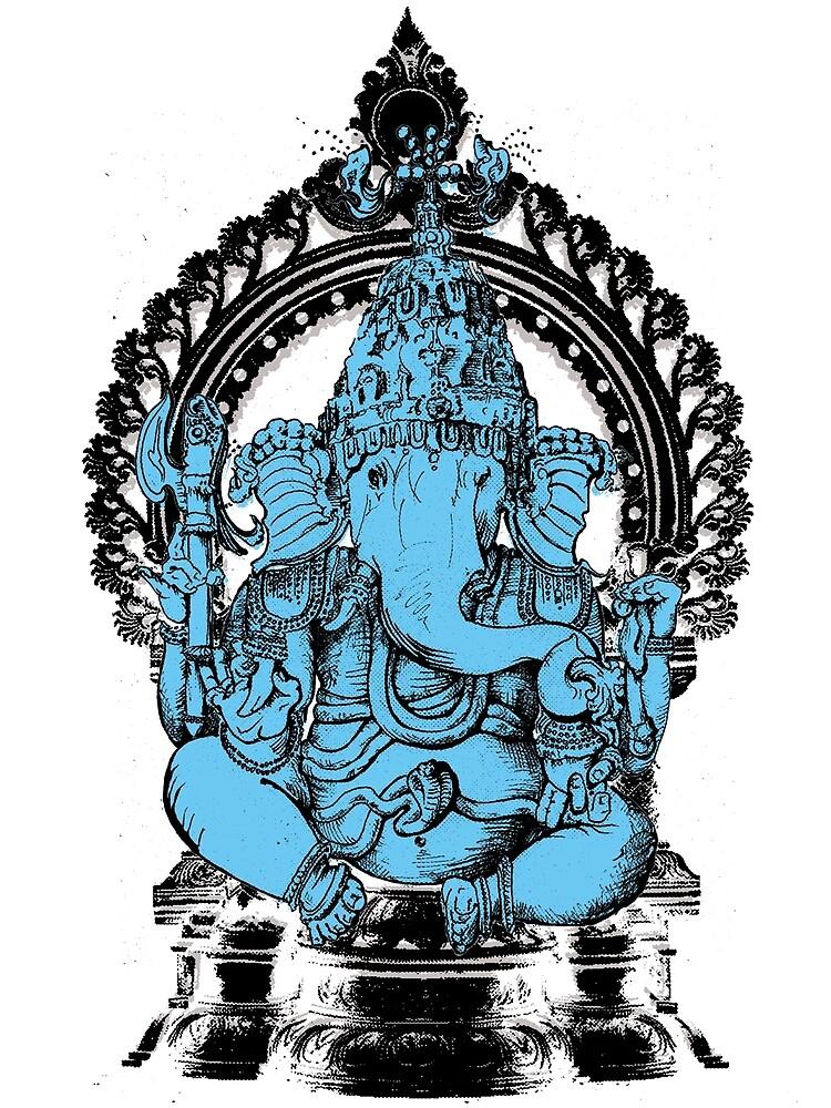 Lord Ganesha Hindu Elephant headed God by scott myst
