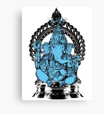 Lord Ganesha Hindu Elephant headed God Canvas Print