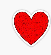 I Heart Music Sticker