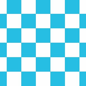 Blue And White Checkered Print by KCavender