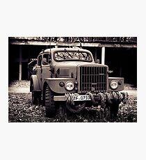 classic car, military car Photographic Print
