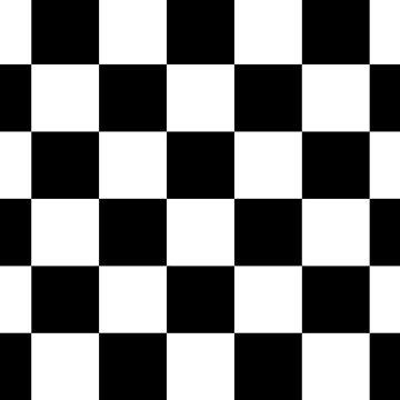 Black And White Checks by KCavender