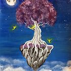 moon tree- home of fairies by Noura Ali
