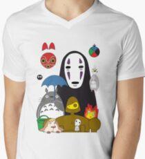 Ghibli mix Men's V-Neck T-Shirt