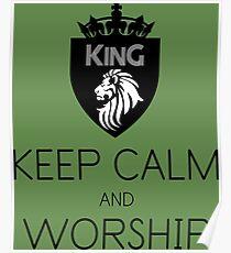Christian Spiritual Warfare KEEP CALM AND WORSHIP Poster