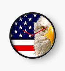 Flag and Eagle  Clock
