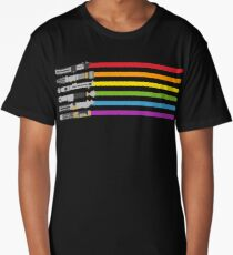 Lightsaber Rainbow Long T-Shirt