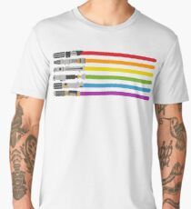 Lightsaber Rainbow Men's Premium T-Shirt