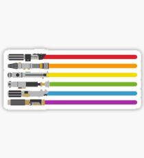 Pegatina Lightsaber Rainbow