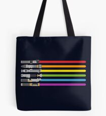 Lightsaber Rainbow Tote Bag