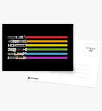 Lightsaber Rainbow Postcards
