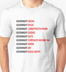 Goodnight Obama Goodnight Moon Goodnight Science Tee Shirt  Unisex T-Shirt