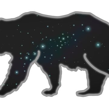 Space Bear - With Outline by mortiis99