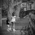 Little Girls And Horse - A Sniff Of Love   Breezy Point, New York by © Sophie W. Smith