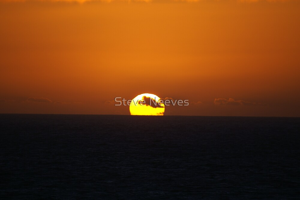 sunset at lands end uk by Steve Neeves