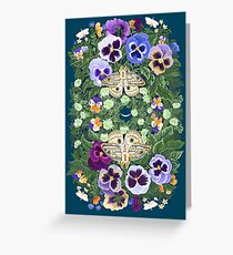 Winter Solstice Moths Greeting Card