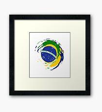 Brazil-flag-design Framed Print