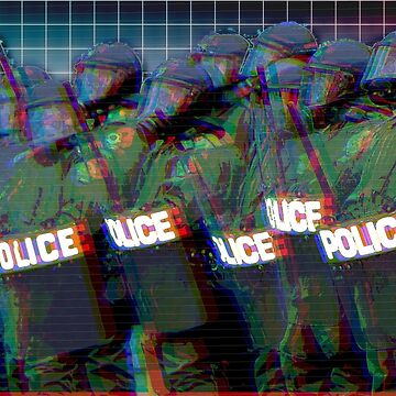 Estado policial - Vaporwave fascista de ChanTees