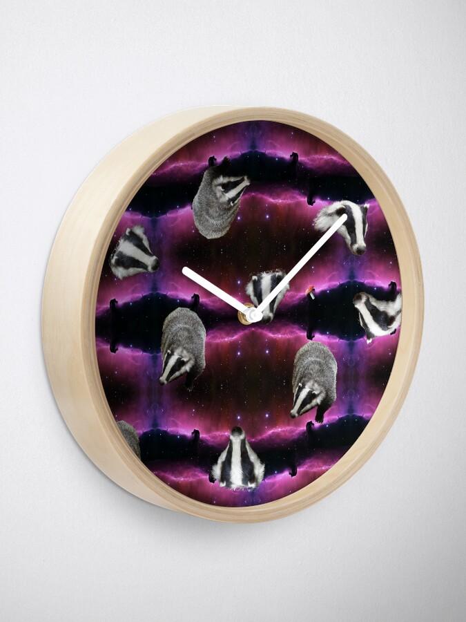 Alternate view of space badgers Clock
