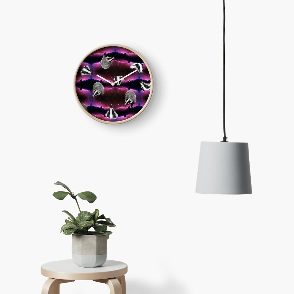 space badgers Clock