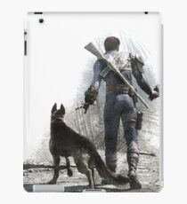 Fallout 4 Vault Dweller and Dogmeat Drawing iPad Case/Skin