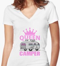 Queen Of The Camper Women's Fitted V-Neck T-Shirt