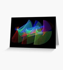 Light Painting Color 1 Greeting Card