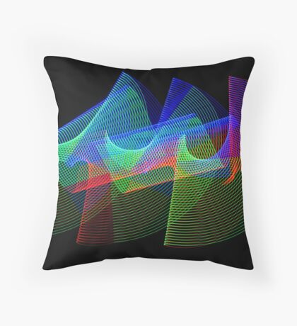 Light Painting Color 1 Throw Pillow