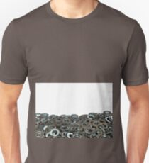 Metal Washers Close Up on a White Background T-Shirt