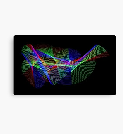 Light Painting Colour 2 Canvas Print
