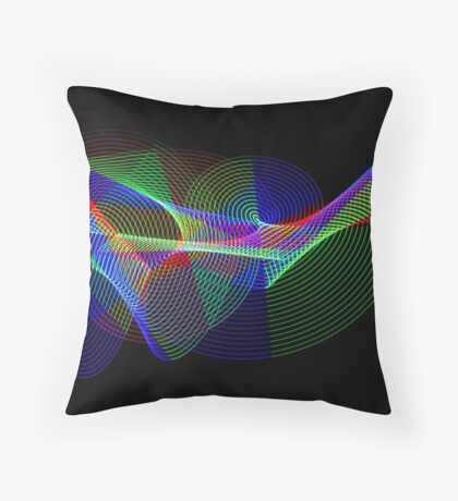 Light Painting Colour 2 Throw Pillow