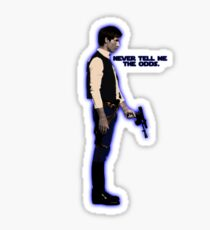 Han Solo Never Tell Me The Odds Sticker