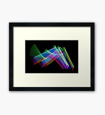 Light Painting color 3 Framed Print