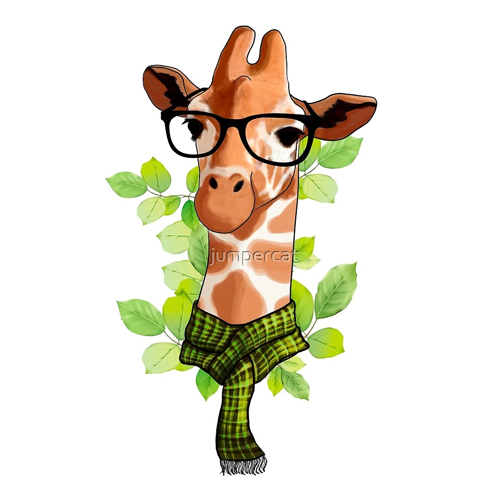 Hipster Giraffe by jumpercat
