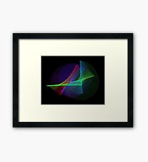 Light Painting color 4 Framed Print