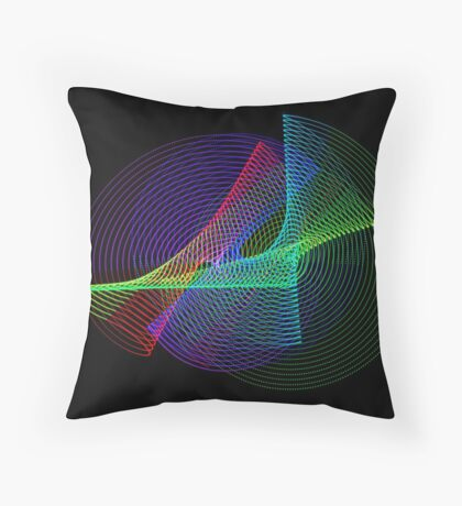 Light Painting color 4 Throw Pillow