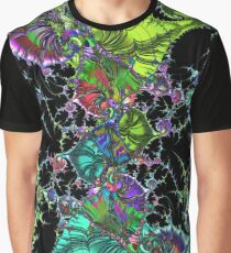 Psychedelic Abstract Spirals Mandelbrot Fractal colored Graphic T-Shirt