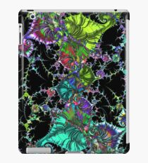 Psychedelic Abstract Spirals Mandelbrot Fractal colored iPad Case/Skin