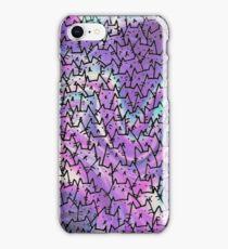 purple & blue cats iPhone Case/Skin