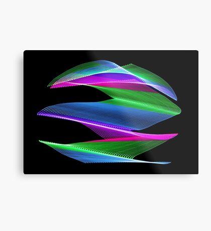 Light Painting Color 6 Metal Print
