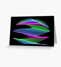 Light Painting Color 6 Greeting Card