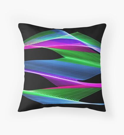 Light Painting Color 6 Throw Pillow