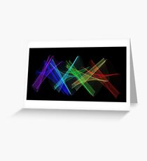 Light Painting Color 7 Greeting Card