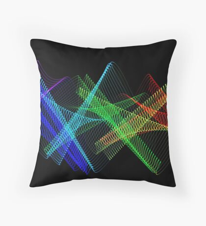 Light Painting Color 7 Throw Pillow