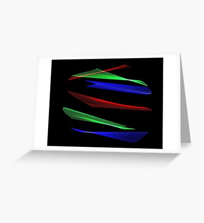 Light Painting Color 8 Greeting Card