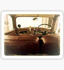 1940s classic car interior Sticker