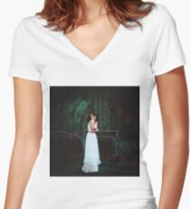 cold autumn Women's Fitted V-Neck T-Shirt