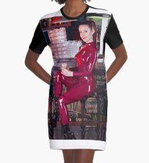 24 Hour latex catsuit Graphic T-Shirt Dress