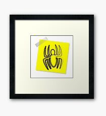 Post-it spider Framed Print